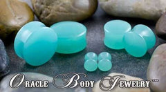 Mint Opalite Plugs by Oracle Body Jewelry