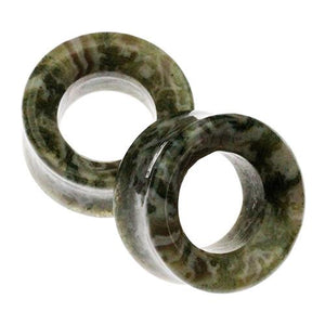 Plugs - Moss Agate Eyelets By Oracle Body Jewelry