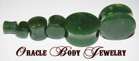 Nephrite Jade Plugs by Oracle Body Jewelry