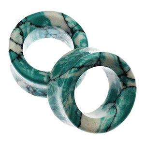 Plugs - Ocean Wave Turquoise Eyelets By Oracle Body Jewelry