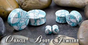 Ocean Wave Turquoise Plugs by Oracle Body Jewelry