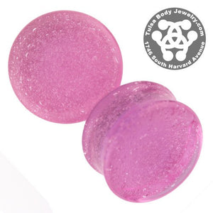 Plasma Pink Solid Color Plugs by Glasswear Studios