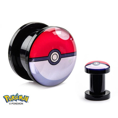 Pokeball Screw-on Plugs
