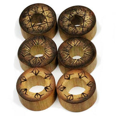 Plugs - Pyrographic Bamboo Tunnels By Organic LLC