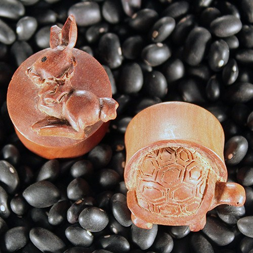 Rabbit & Turtle Plugs by Urban Star Organics