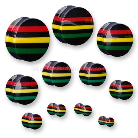 Rasta Striped Plugs