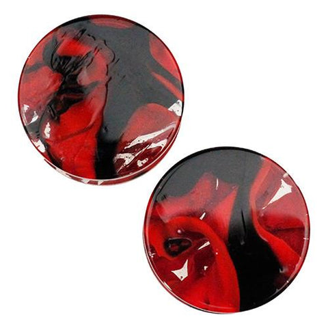 Plugs - Red & Black Power Plugs By Gorilla Glass