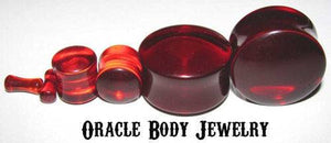 Red Quartz Plugs by Oracle Body Jewelry