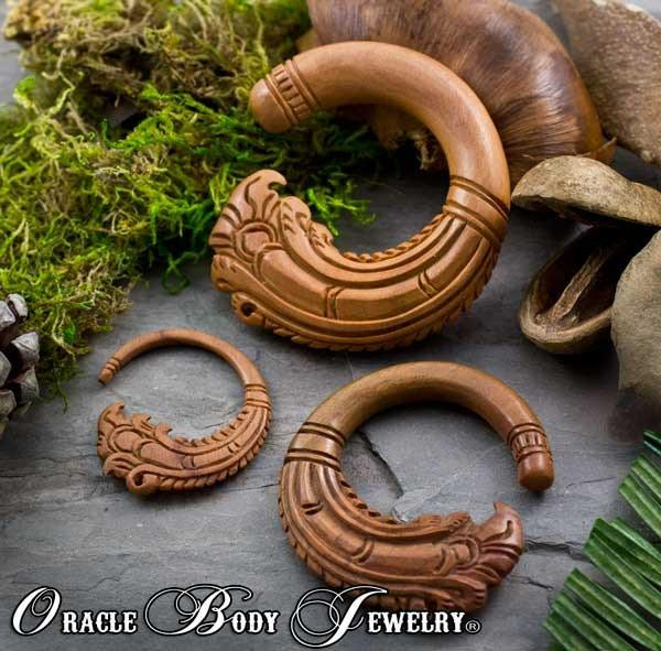Saba Wood Crest Hangers by Oracle Body Jewelry