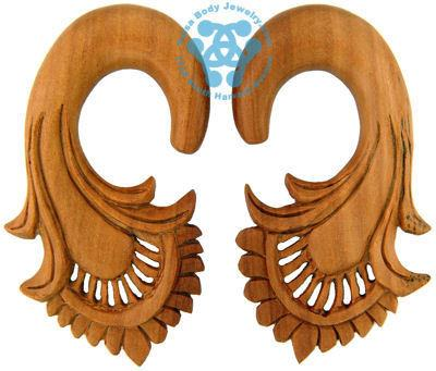 Saba Wood Harp Hangers by Oracle Body Jewelry