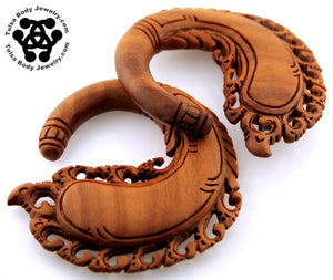 Saba Wood Katana Hangers by Oracle Body Jewelry