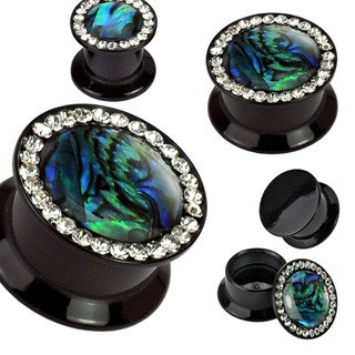 Screw-On Abalone CZ Plugs