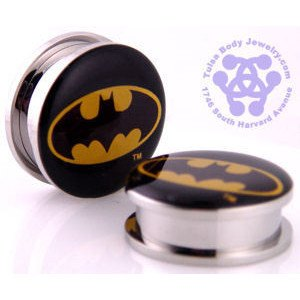 Screw-On Batman Plugs