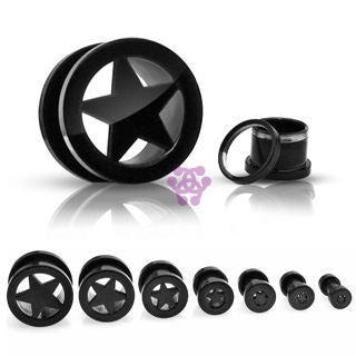 Blackline Screw-On Star Tunnels