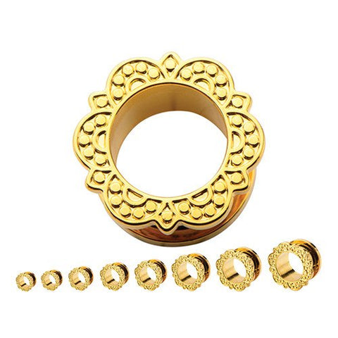 Gold Plated Screw-On Bali Tunnels