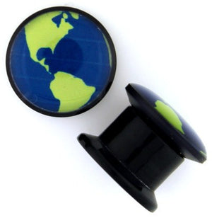 Screw-On Planet Earth Plugs