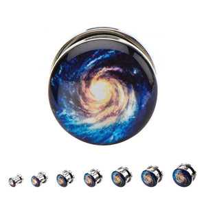 Screw-on Stainless Galaxy Plugs