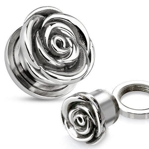 Screw-on Stainless Rose Plugs