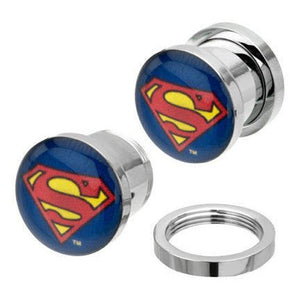 Screw-On Superman Plugs