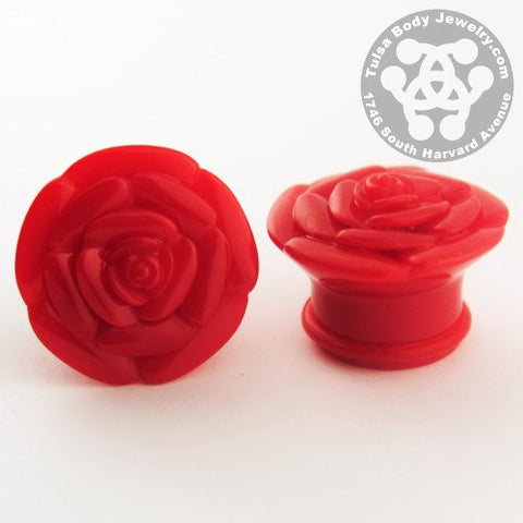Single Flare Acrylic Rose Plugs