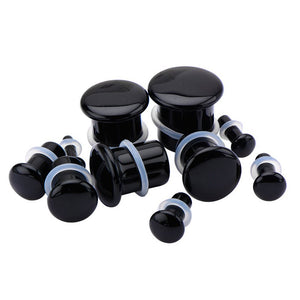 Single Flare Black Onyx Plugs