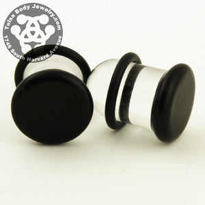 Black Single Flare Plugs by Glasswear Studios