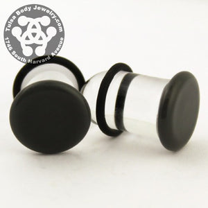 Grey Single Flare Plugs by Glasswear Studios