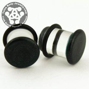 Indigo Sparkle Single Flare Plugs by Glasswear Studios