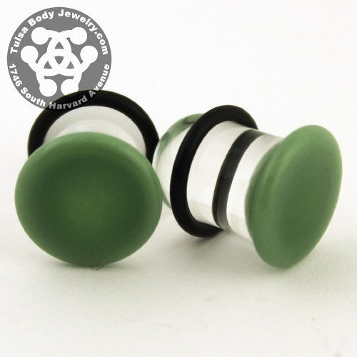 Mint Single Flare Plugs by Glasswear Studios