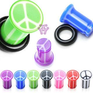 Single Flare Peace Sign Plugs