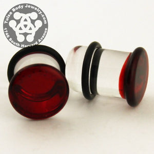 Ruby Single Flare Plugs by Glasswear Studios
