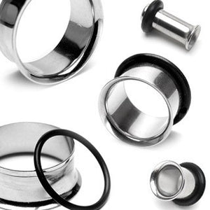 Single Flare Stainless Steel Tunnels