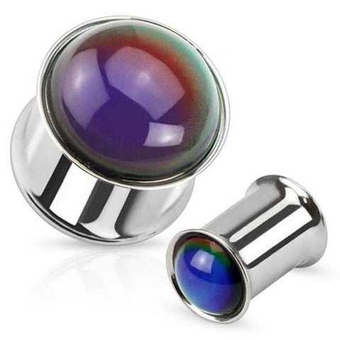 Stainless Steel Mood Stone Plugs