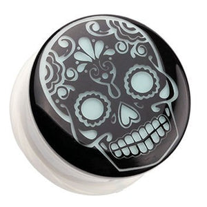 Sugar Skull Glow-in-the-Dark Plugs