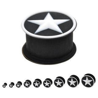 Two-Tone Silicone Star Plugs