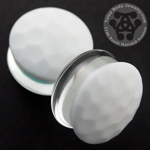 White Color Front Martelle Plugs by Gorilla Glass