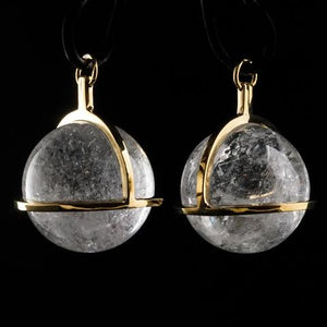 Quartz Crystal Globe Pendants by Diablo Organics