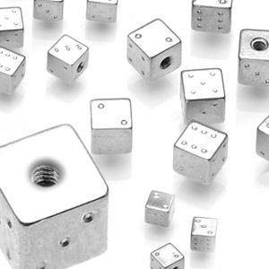 14g Stainless Steel Dice (2-Pack)