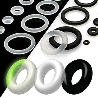 Replacement Parts - Clear Silicone O-rings (Ten Pack)