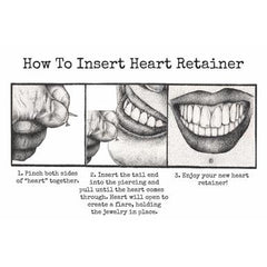Retainers - Silicone Heart Retainer By Kaos Softwear
