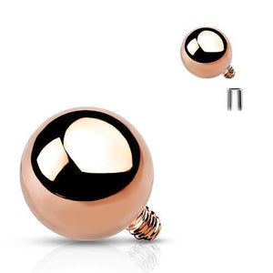 14g Rose Gold Plated Ball