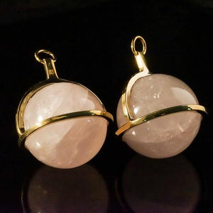 Rose Quartz Globe Pendants by Diablo Organics