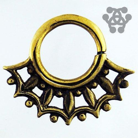 Fern Brass Septum Ring