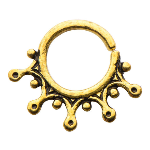 Stilla Brass Septum Ring