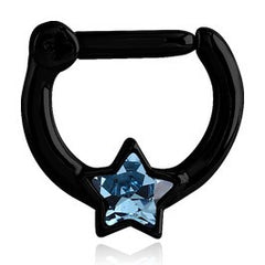 16g Blackline Star Septum Clicker