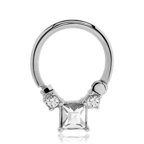 16g CZ Square Septum Clicker
