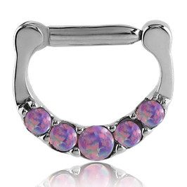 16g Five Opal Septum Clicker