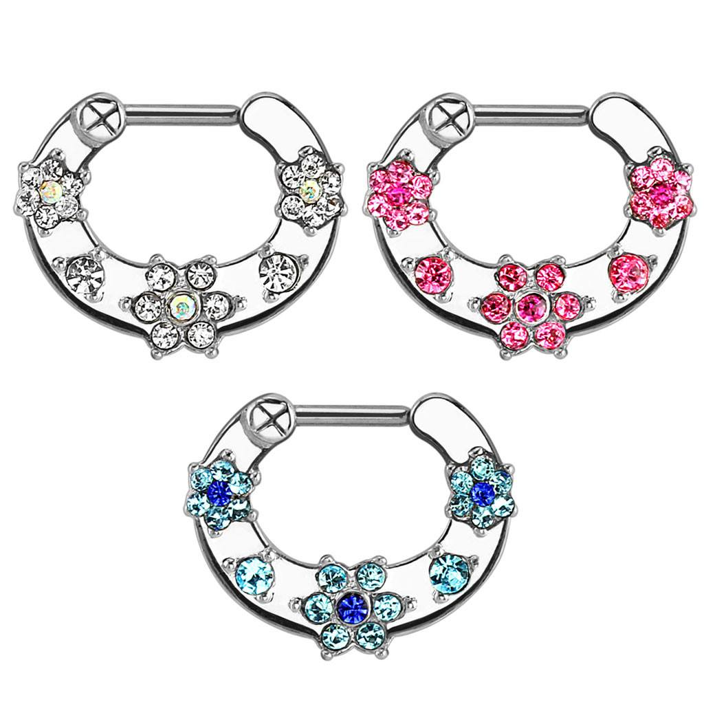 16g Gem Flower Septum Clicker