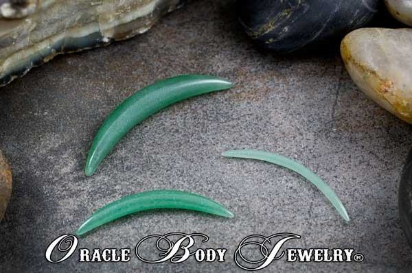 Aventurine Septum Tusk by Oracle Body Jewelry