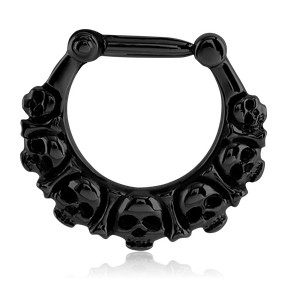 Blackline Skulls Septum Clicker